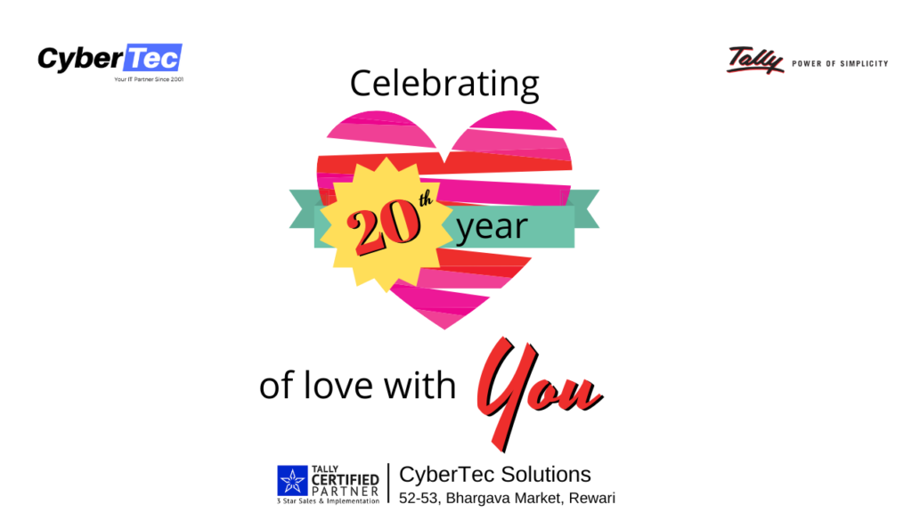We are just entering in 20th year of love with Tally